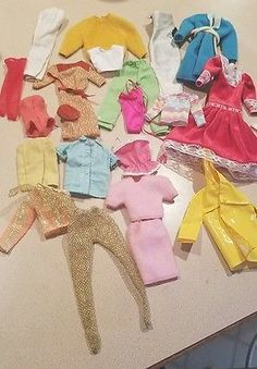 Vintage TAGGED BARBIE clothing Lot