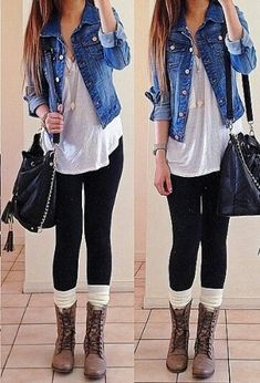 108 Lovely Outfit Ideas You Should Already Own - Outfit Trends Teen Fashion, Winter Fashion, Fashion Outfits, Fashion Black, Fashion Ideas, Fashion Images, Combat Boot Outfits, Combat Boots, Outfits With Boots