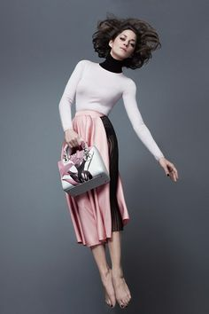 Marion Cotillard in the Lady Dior campaign photographed by Jean-Baptiste Mondino.