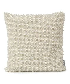 Look what I found on #zulily! Ivory Pearl Faux-Silk Throw Pillow #zulilyfinds