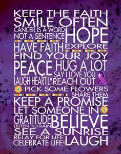 Keep the Faith Relay for Life 11x14 WORD ART by catalyst54