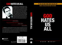 """Hank Moody's """"God hates us all"""" book cover"""