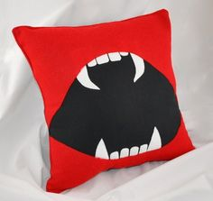 Vampire Bite Me pillow