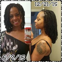 6 months of new growth into my loc journey!!! #locnationthemovement #naturalhair…
