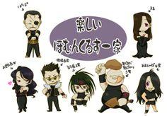 Chibi gang.  #Wrath #FMA #Fullmetal #Alchemist #Anime #Homunculus #lust #sloth #envy #gluttony #chicken #greed #pride #king #bradley #chibi #sd