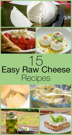15 Easy Raw Cheese Recipes | If you make cheese already and appreciate quality…