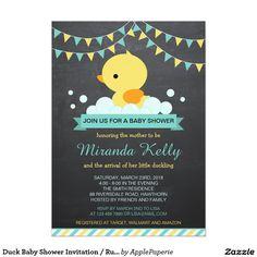 Duck Baby Shower Invitation / Rubber Duck Invite, duck baby shower, boy baby shower, rubber duck baby shower, rubber duck, teal rubber duck, yellow rubber duck, chalkboard rubber duck, rubber duck theme, rubber duck baby shower ideas, duck, baby shower, baby sprinkle, yellow, teal, turquoise, chalkboard, cute, baby boy,