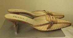 Prada lite brown/nude sandals Sz EURO 37 1/2(7 U.S) excellent condition