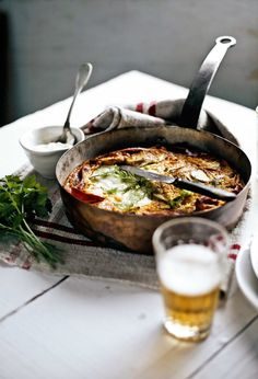 Fennel and ham frittata