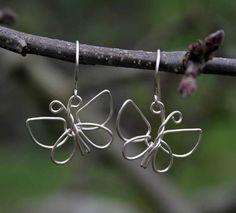 DIY wire butterflies earrings