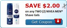 $4 i Savings on Nivea for Men Shave Products (7oz Shave Gel for $2 at Walgeeens through 01/06!)
