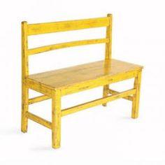 LittleChoux - Vintage Yellow Bench - Toy Furniture - Playroom    #toyfurniture #playroom