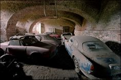 Found underneath a castle in Belgium. Forgotten Italian Alfa Romeo cars. Stored away for decades in a labyrinth of underground rooms and corridors.