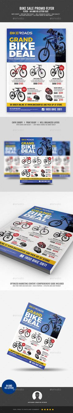 #Bicycle Sale Promo Flyer - Corporate #Flyers