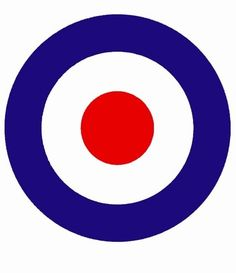 Classic British design used by the RAF and taken up by the Mods. Vespa Logo, Vespa Lambretta, Northern Soul, Mod Fashion, Online Shopping Stores, Chicago Cubs Logo, Paul Weller, Red White Blue, Projects To Try