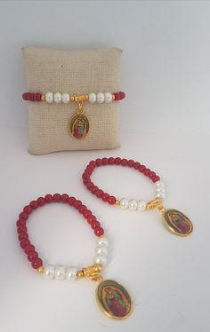 Lady Guadalupe Bracelets #takkaibykarina #etsyjewelry #etsyshop #bracelet #handmade #catholic #catholicgift #religiousbracelet #virgendeguadalupe  #b#bijouxfantaisie #bijoux2018 #redbracelet #mothersdaygift