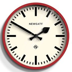 Newgate The Luggage Wall Clock - Red - modern station clock