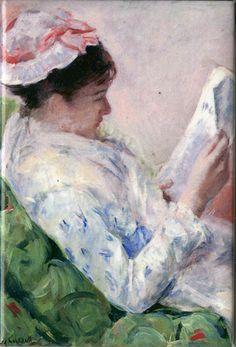 Woman Reading    Artist: Mary Cassatt     1878