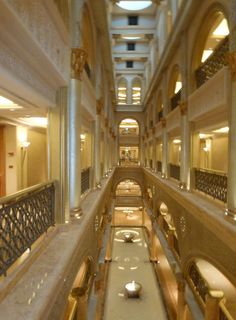 Interior of one wing in #Emirates Palace, Abu Dhabi