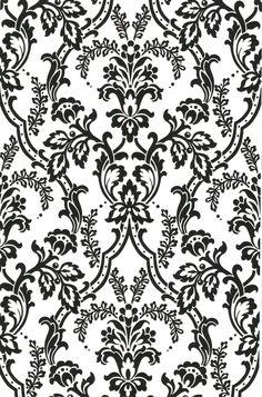 Interior Place - Black CCP12113 Andrea Black Ornate Ogee Wallpaper, $32.99 (http://www.interiorplace.com/black-ccp12113-andrea-black-ornate-ogee-wallpaper/)