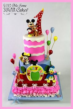 EDITOR'S CHOICE (1/11/2014) Mickey Mouse Clubhouse by Give Me Some Sugar, Cakes View details here: http://cakesdecor.com/cakes/106587