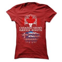 Canadian Grown with Greek Roots Women T-Shirt http://aztshirtshoodies.com/product/canadian-grown-with-greek-roots-women-t-shirt/