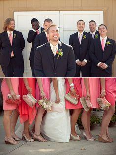 Best men John and Justin Light pink tie maybe a little lighter