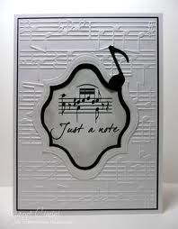 'just a note' card