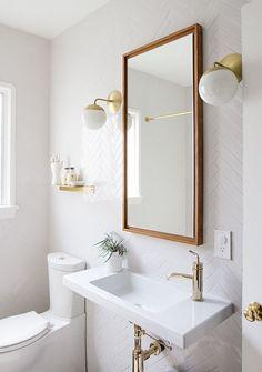 bathroom renovation // before & after // sarah sherman samuel