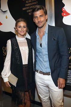 The Olivia Palermo Lookbook : Olivia Palermo and Johannes Huebl at New York event.