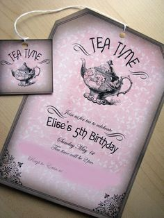 Got these custom made for my friend's high tea bridal shower loveeeee it!  http://www.etsy.com/listing/72705763/tea-time-party-invitation