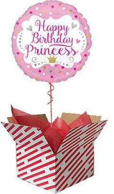 Sent already inflated, this cute pink Happy Birthday Princess balloon is sure to surprise any little girl on their birthday. Order your Happy Birthday Princess Balloon online for fast UK delivery. Gifts For 18th Birthday, Pink Happy Birthday, Happy Birthday Princess, 40th Birthday, Balloon Box Surprise, 60th Birthday Balloons, Princess Balloons, Balloons Online, New Baby Gifts