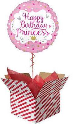 Happy Birthday Princess Balloon #balloon #princess #happybirthday #birthdayballoon