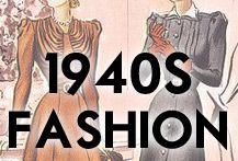 1940s Fashion inspiration - dresses, pants, hats, sweaters, blouses and more.