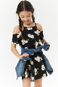 H&m Girls Black Stretch Denim Dungaree Pinafore Dress Button Detail Age 12-13yrs Girls' Clothing (sizes 4 & Up)