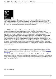 Beschreibung der Agentur-Unterstützung von Rudi Kobza, Lowe GGK und Digital Home