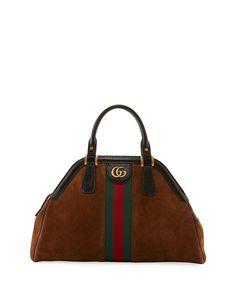 Gucci RE(BELLE) Medium Suede Top Handle Bag. Bergdorf GoodmanNeiman MarcusDesigner  ... be910a636e