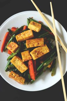 An Easy TOFU STIR-FRY
