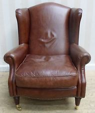 Laura Ashley Southwold Leather Armchair