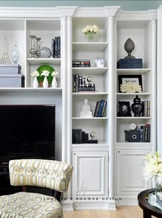 Interior Design Ideas - Home Bunch - An Interior Design  Luxury Homes Blog.  Beautiful built in bookcases.