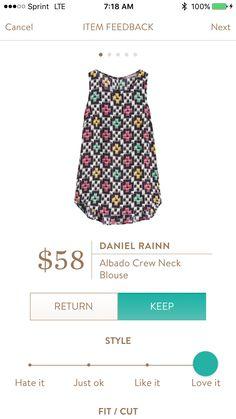 Daniel Rainn Albado blouse. It's way cuter in person