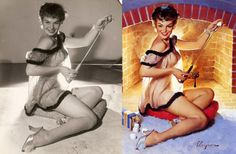 The pics behind the pinups
