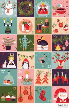 Illustrated Advent Calendar - Collection - Caroline Alfreds
