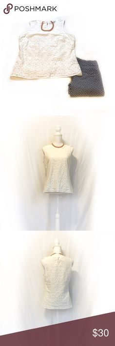 Boden | White Eyelet Sleeveless Blouse | Size: 6 Boden | White Eyelet Sleeveless Blouse | Size: 6 | Great Condition | True to Size | No Wear or Damage | Pet/Smoke Free Home | 100% Cotton | See Photos for Measurements Boden Tops Blouses