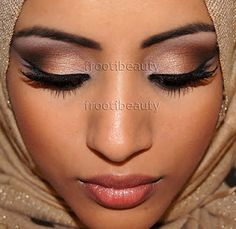 She and her makeup are beautiful   (Arabic look with Urban Decay's Naked Palette)