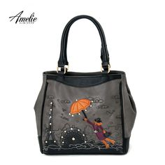 Women casual Handbags Handmade Embroidery Cartoon Shoulder Bags dc47b843517