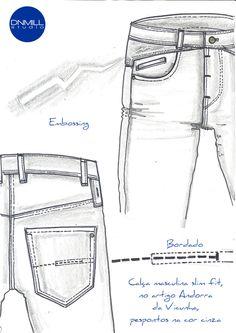 Clothing Sketches, Fashion Figures, Denim Fashion, Trousers, Vintage Fashion, How To Wear, Fashion Design, Retro, Top