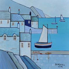 BLUE HARBOUR by Paul Bursnall at Ross's Online Art Auctions