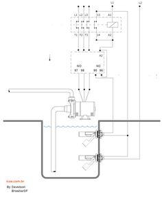 Sensor de nível - Ligação Contatora - Relé Térmico e Relé Falta de fase - Laboratorio de Garagem (arduino, eletrônica, robotica, hacking)