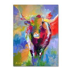 Richard Wallich 'Longhorn' Canvas Art - Overstock Shopping - Top Rated Trademark Fine Art Canvas